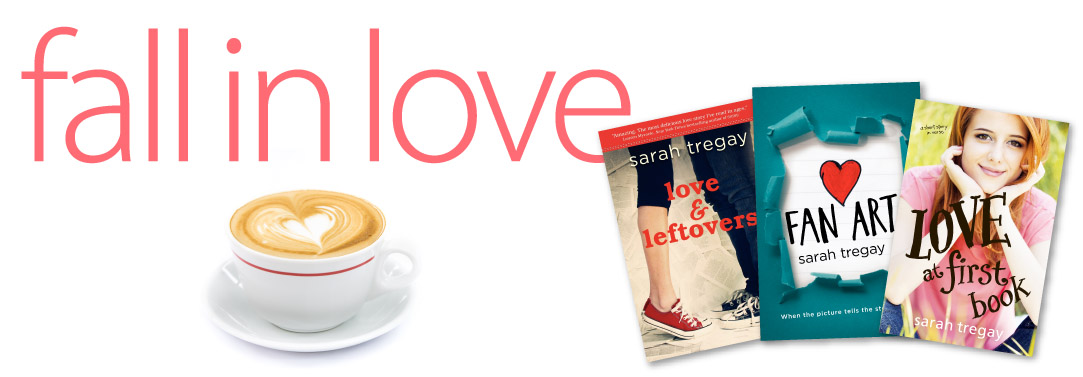YA Contemporary Fiction by author Sarah Tregay, Love and Leftovers, a Novel in verse, Fan Art, an YA LGBT romance, and Love at First Book, a YA short story in verse