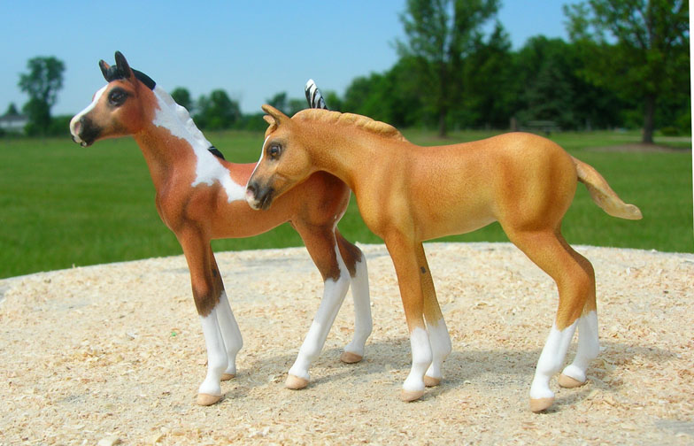 Custom mini model horse, foals by Sarah Tregay