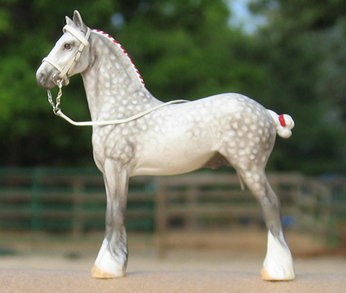 apple Gray Drafter Custom (CM) mini model horse  Peter Stone Chips by Sarah Tregay