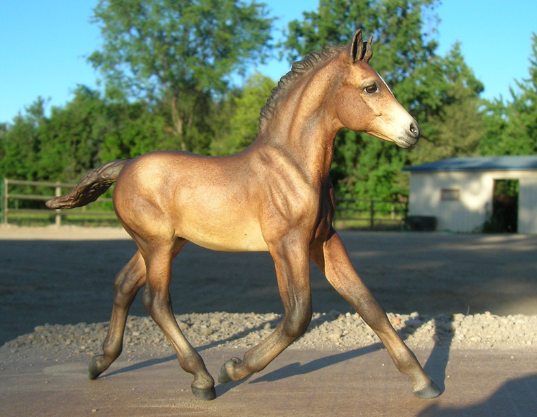 classic bay pony foal model horse by Sarah Tregay (Breyer)