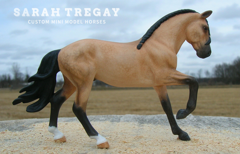 Lusitano Custom Mini Model Horse by Sarah Tregay