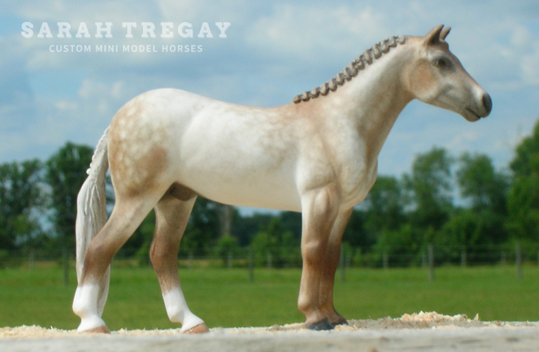 Irish draft mare Custom Mini Model Horse by Sarah Tregay