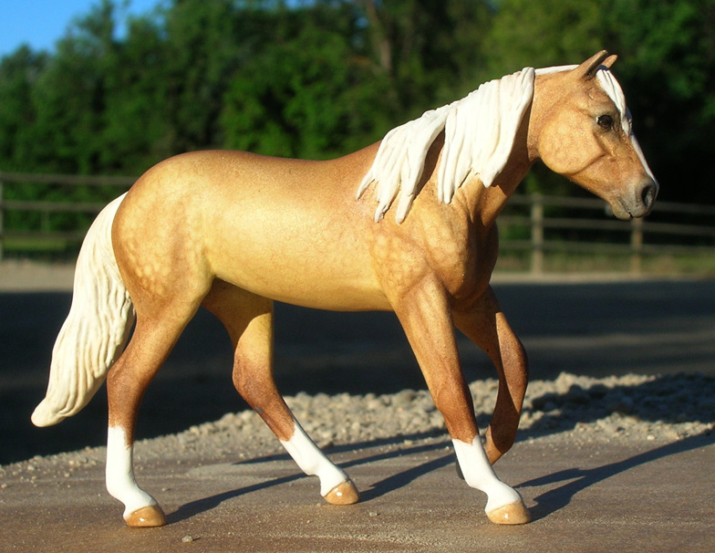 custom mini model horse by Sarah Tregay (Breyer Stablemate QH in Brindle)