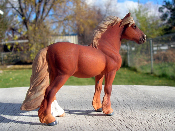 custom mini model horse by Sarah Tregay (pony)