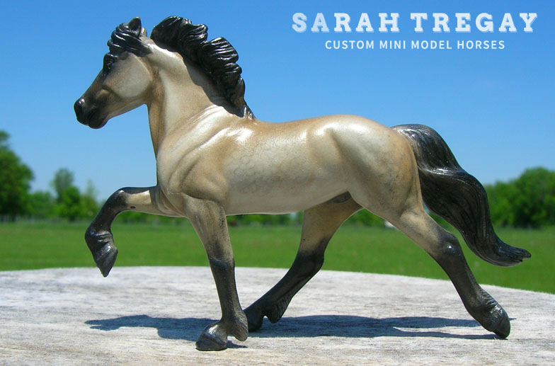 custom mini model horse by Sarah Tregay (Icelandic)