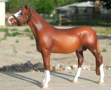 custom mini model horse by Sarah Tregay (Breyer CM)