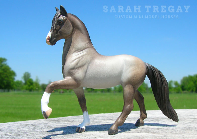 Paso Fino Custom Mini Model Horse by Sarah Tregay