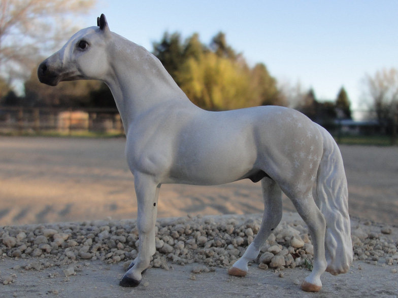 custom mini model horse by Sarah Tregay (Chips)