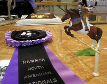custom mini eh capa rider by Sarah Tregay (Breyer Stablemate jumper)