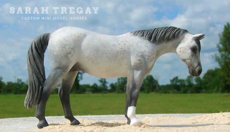 Lipizzan Mare Custom Mini Model Horse by Sarah Tregay