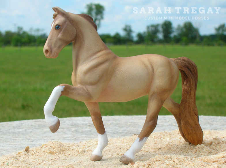 TWH Custom mini model horse by Sarah Tregay