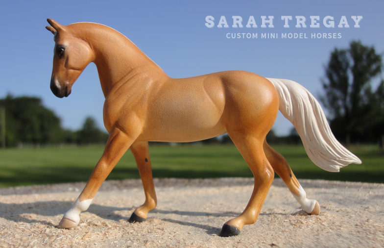 Palomino (Breyer Stablemate) Custom Mini Model Horse by Sarah Tregay