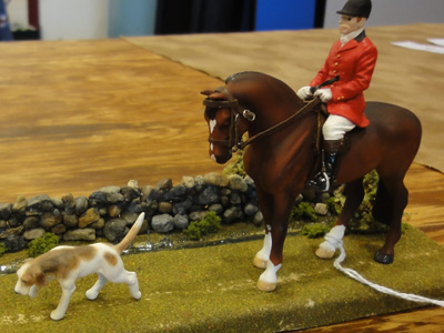 custom mini model horse by Sarah Tregay (Breyer Stablemate standing thoroughbred)