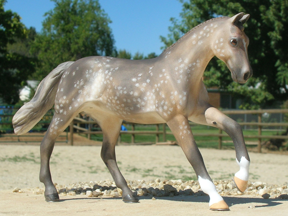 dapple gray custom model horse by Sarah Tregay
