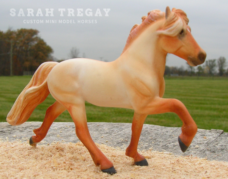 Icelandic Pony Custom Mini Model Horse by Sarah Tregay