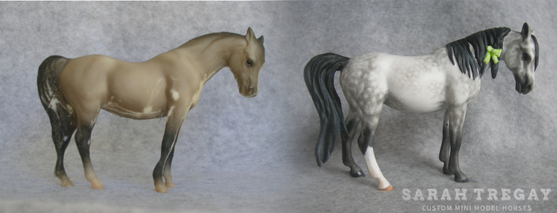 Breyer Stablemate Mold: Arabian Mare (G1) - by Maureen Love, 1975, and custom mini by Sarah Tregay