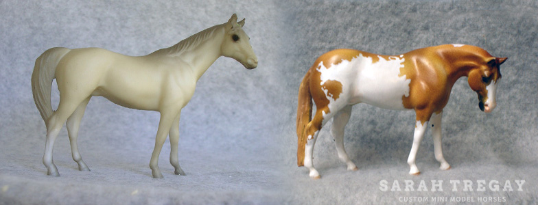Breyer Stablemate Mold: Citation (G1) - by Maureen Love, 1975 and custom mini by Sarah Tregay