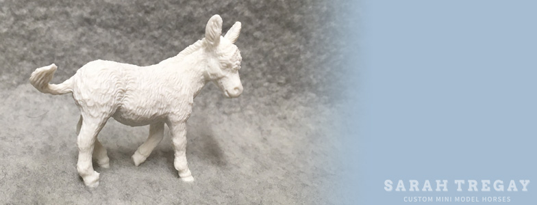 Breyer Stablemate Mold: Donkey (G3) by Kathleen Moody, 2009 and custom mini by Sarah Tregay