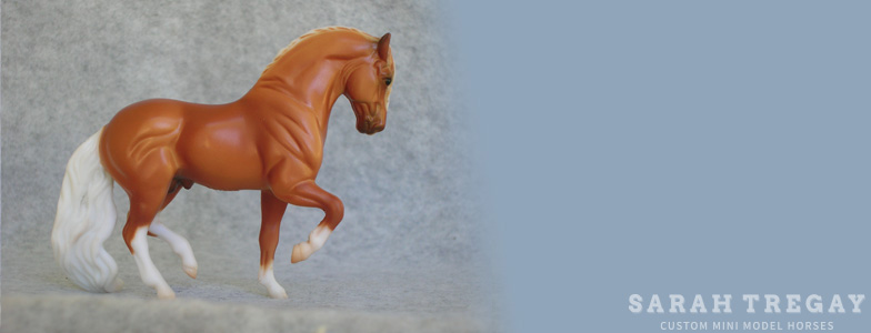 Breyer Stablemate Mold: Andalusian (G2) by Kathleen Moody, 1998 and custom mini by Sarah Tregay