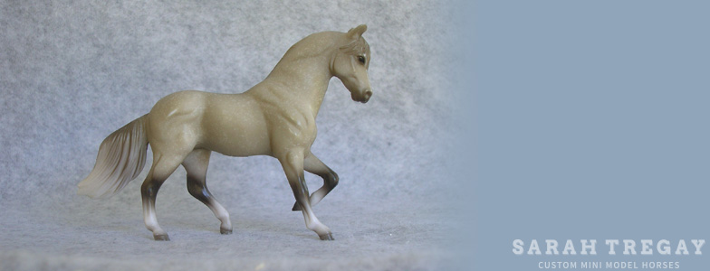 Breyer Stablemate Mold: Paso Fino (G2) by Kathleen Moody, 1998 and custom mini by Sarah Tregay