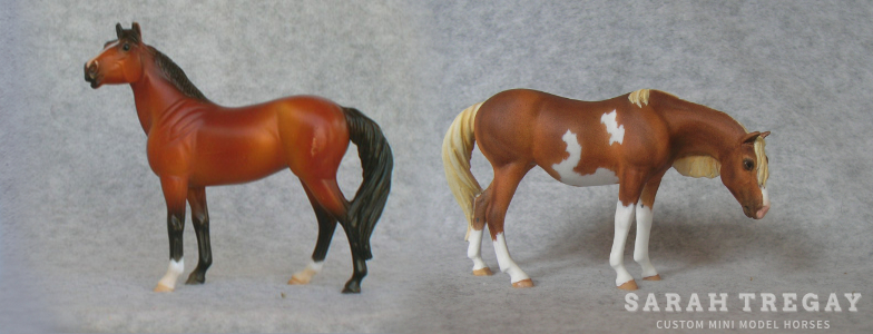 Breyer Stablemate Mold: Standing Stock Horse (G3) by Jane Lunger, 2006 and custom mini by Sarah Tregay