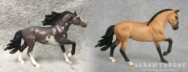 Breyer Stablemate Mold: Mirado by Maggie Bennett, 2017, and custom mini by Sarah Tregay