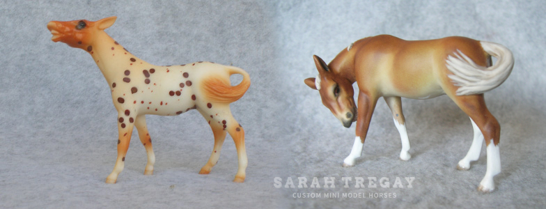 Breyer Stablemate Mold: Mule (G2) by Kathleen Moody, 19987 and custom mini by Sarah Tregay