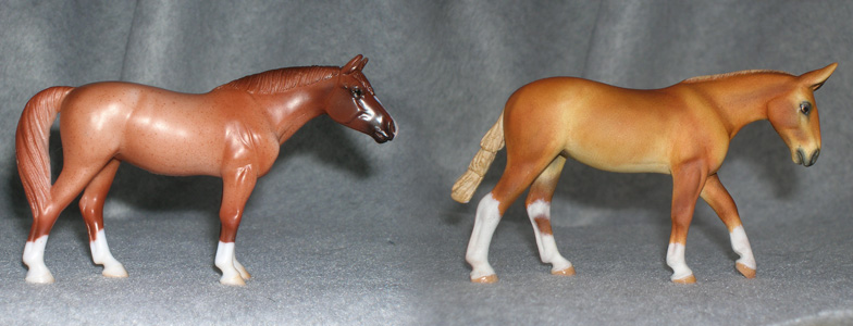 Breyer Stablemate Mold: American Quarter Horse (G4) aka Para Dressage by Jane Lunger, and custom mini by Sarah Tregay