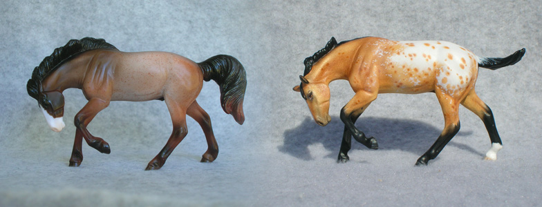 Breyer Stablemate Mold: Rivet (G4) by Jane Lunger, 2013 and custom mini by Sarah Tregay